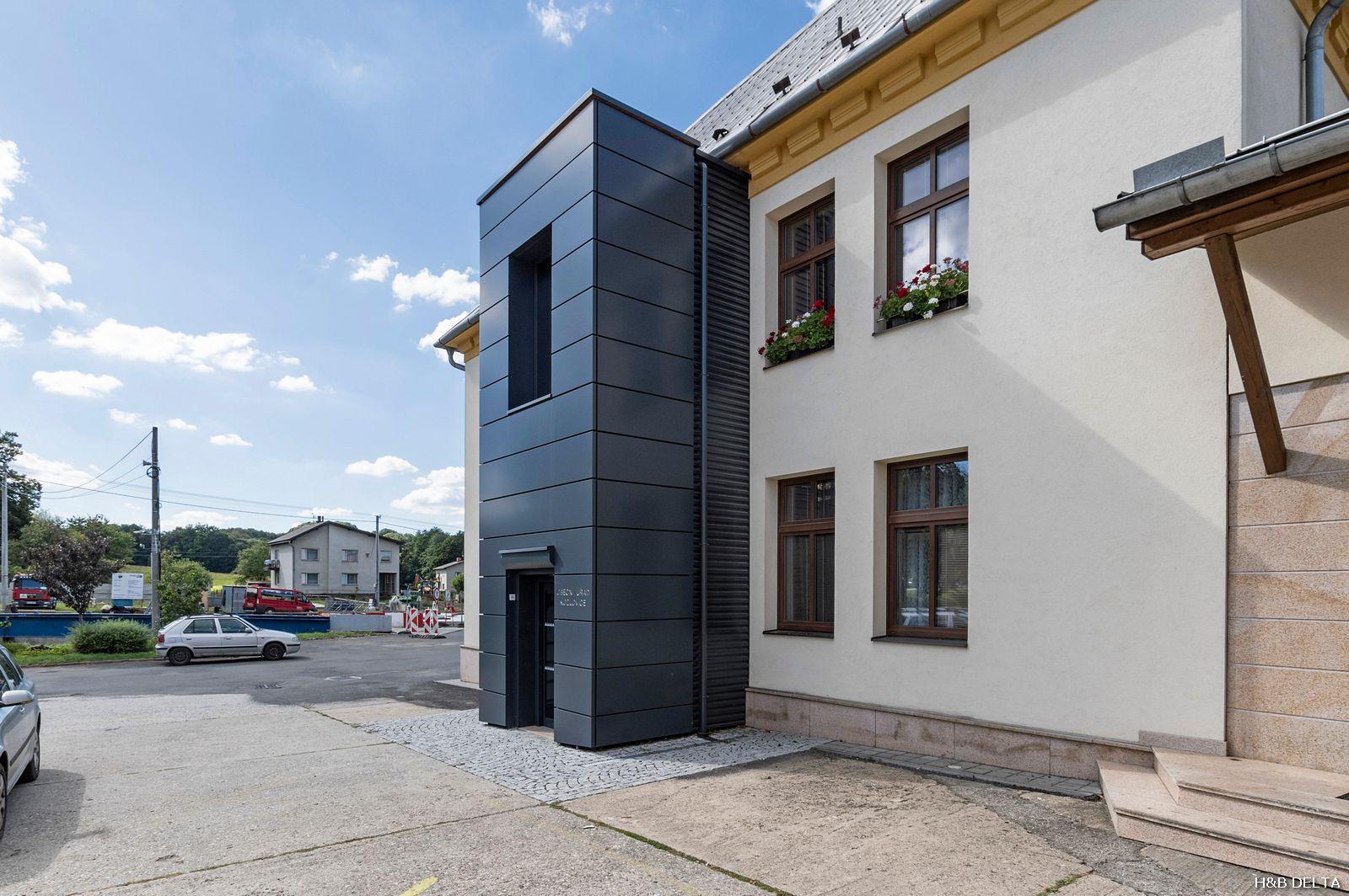 Výtahová šachta Obecní úřad Kozlovice
